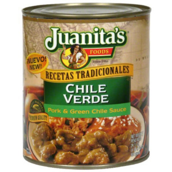 Juanita's Foods Chile Verde Pork & Green Chile Sauce