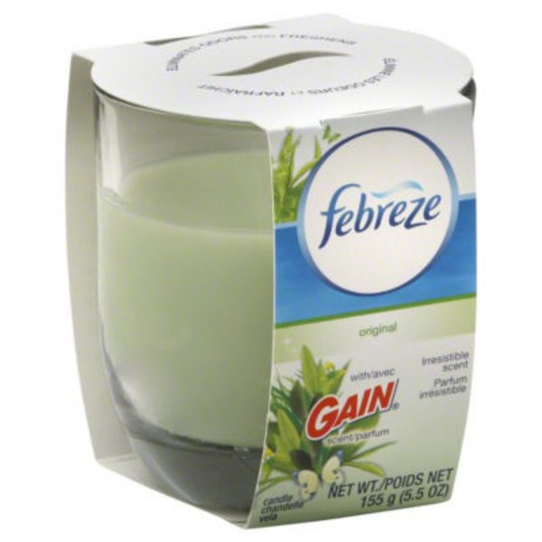 Febreze Candle Febreze Scented Candle with Gain Original Air Freshener (1 Count, 4.3 oz) Air Care