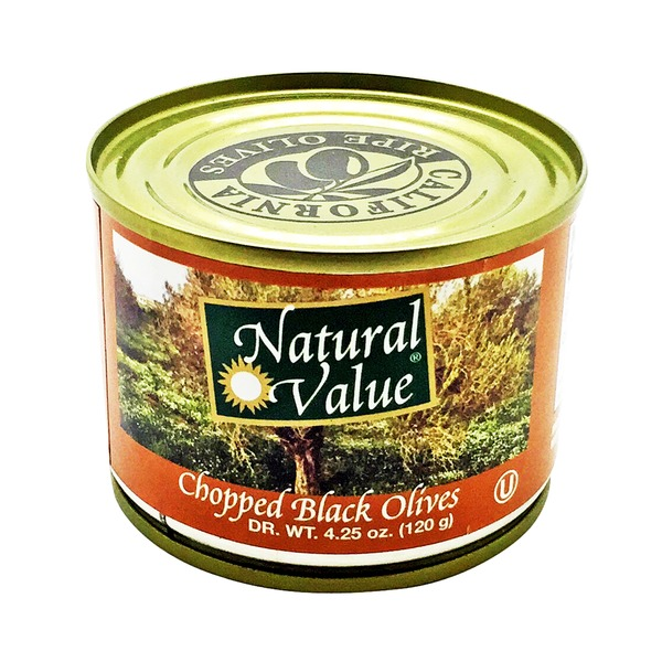 Natural Value Chopped Black Olives