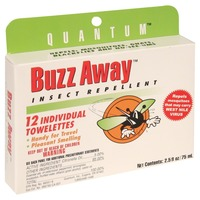 Buzz Away Insect Repellent, Citronellas Towelette