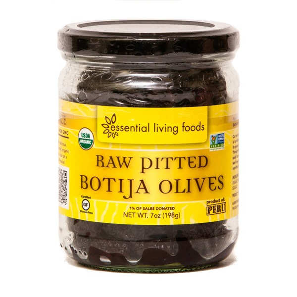 Essential Living Foods Raw Pitted Botija Olives