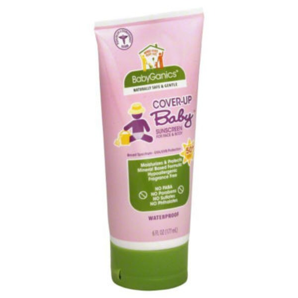 Babyganics Mineral-Based SPF 50 Baby Sunscreen Lotion Tube