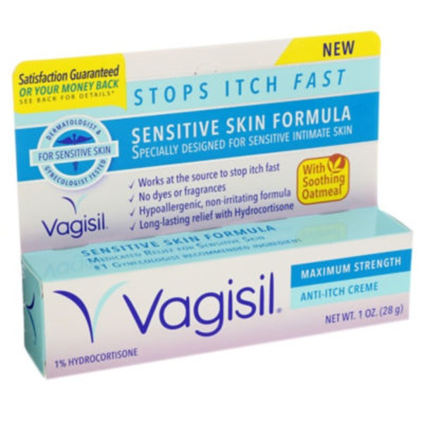Vagisil Maximum Strength Anti-Itch Creme Sensitive Skin Formula