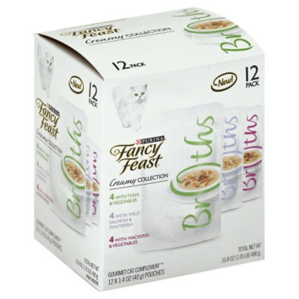 Fancy Feast Broths Creamy Collection Variety Pack Cat Food