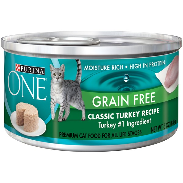Purina One Cat Wet Grain Free Classic Turkey Recipe Cat Food