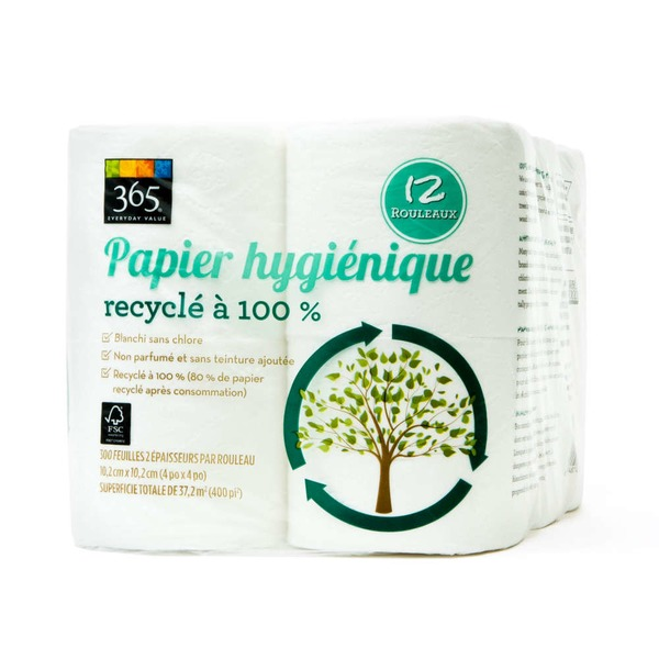 365 100% Recycled Bath Tissue