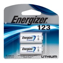 Energizer Specialty Lithium 123A, 2 Pack