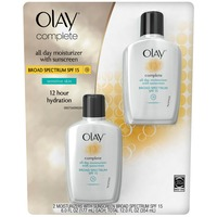 Olay Complete Olay Complete All Day Face Moisturizer with Sunscreen Broad Spectrum SPF15 Sensitive 6oz Twin Pack Female Skin Care