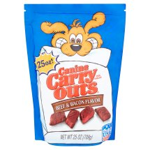 Canine Carry Outs Beef & Bacon Flavor Dog Treats, 25 Oz.