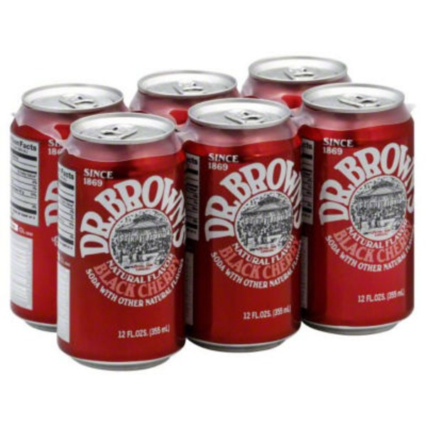 Dr. Brown's Natural Flavor Black Cherry Soda