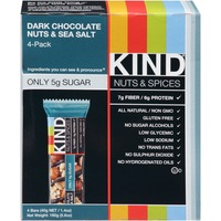 Kind Nuts & Spices Nuts & Spices Dark Chocolate Nuts & Sea Salt Snack Bars