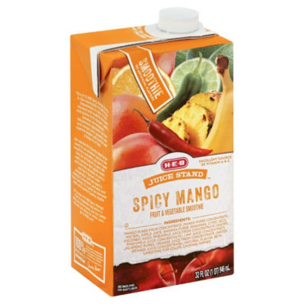 H-E-B Juice Stand Spicy Mango Smoothie
