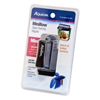 Aqueon MiniBow Algae Cleaning Aquarium Magnet Mini for Acrylic Aquariums