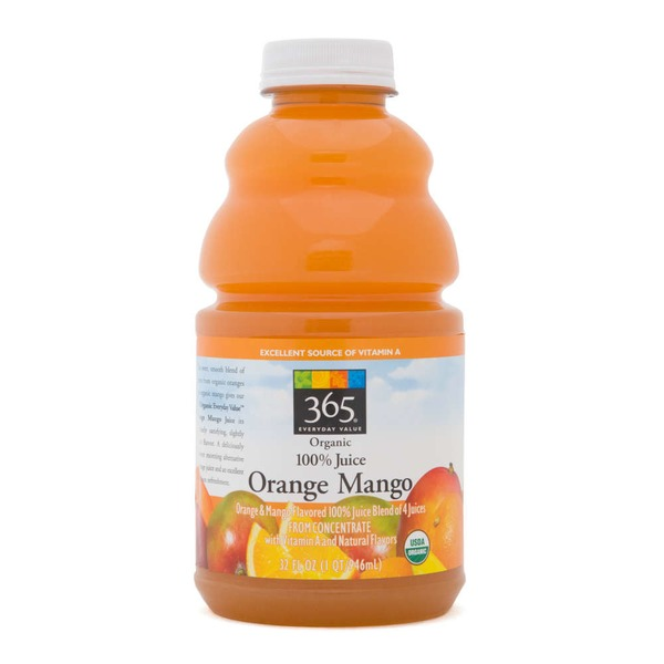 365 100% Organic Orange Mango Juice
