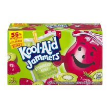 Kool-Aid Jammers Fruit Juice Pouches, Strawberry Kiwi, 6 Fl Oz, 10 Count