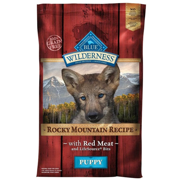 Blue Buffalo Dog Food, Dry, Red Meat, Rocky Mountain Recipe, Puppy, Bag