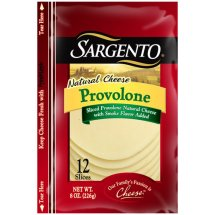 Sargento Provolone Natural Cheese Slices, 12 count, 8 oz