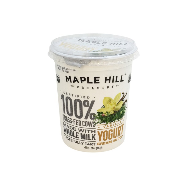 Maple Hill Creamery Yogurt, Creamline, Vanilla
