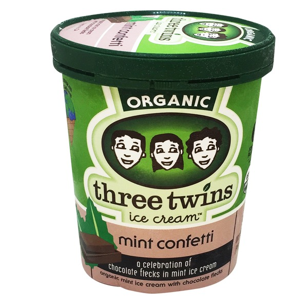 Three Twins Organic Mint Confetti Ice Cream