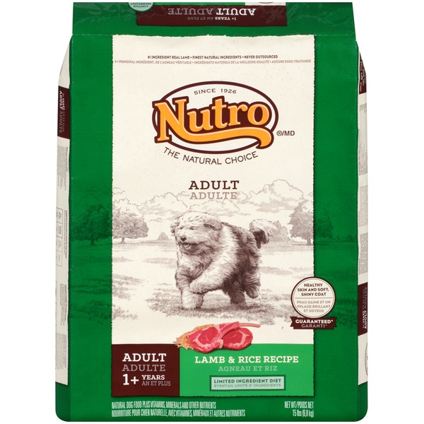 Nutro Adult Lamb & Rice Recipe Dog Food