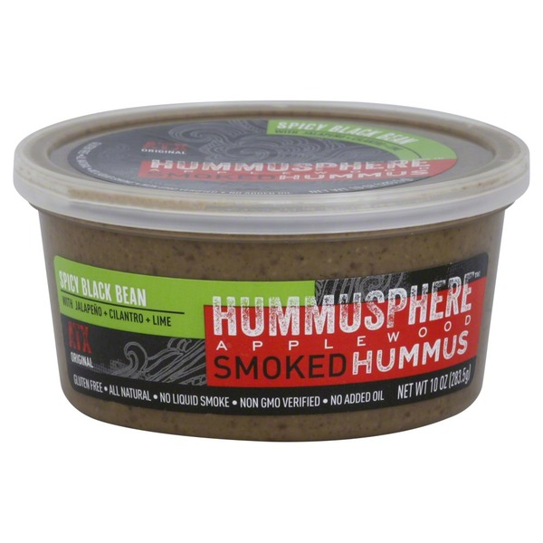 Hummusphere Hummus, Applewood Smoked, Spicy Black Bean