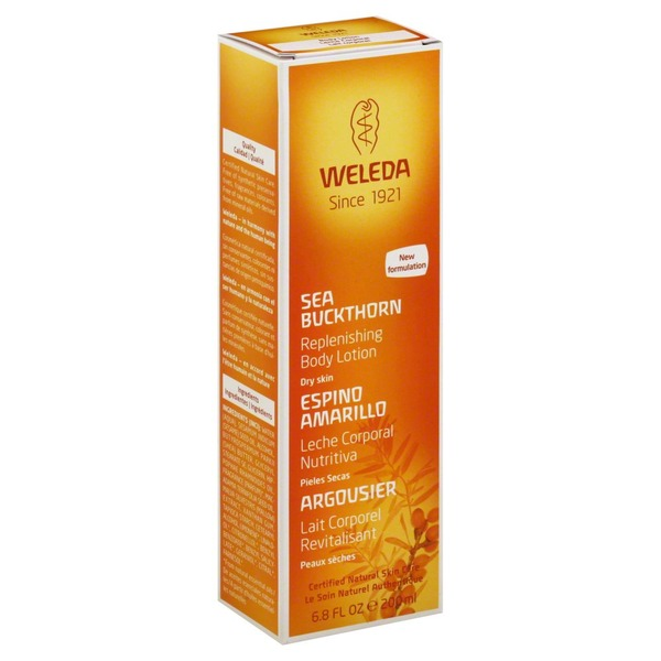 Weleda Replenishing Body Lotion, Sea Buckthorn, Dry Skin, Box