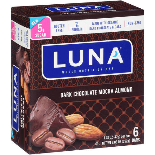 Luna Dark Chocolate Mocha Almond Whole Nutrition Bars