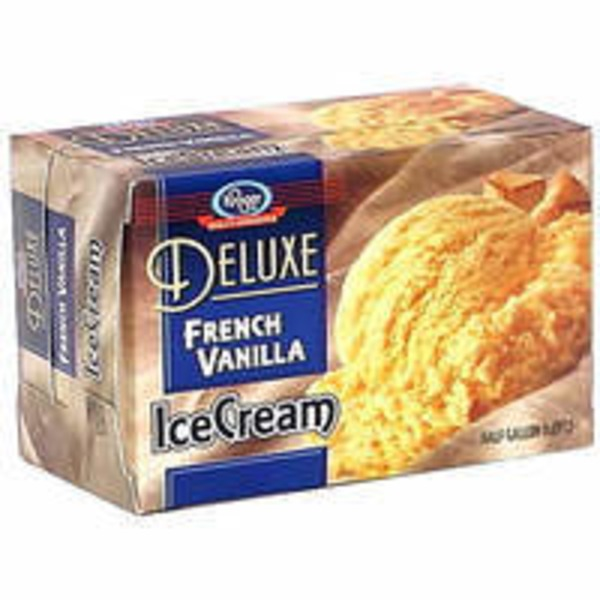 Kroger Deluxe Ice Cream French Vanilla