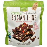 Royal Chocolates Organic Dark Chocolate Belgian Thins