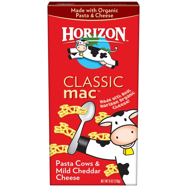 Horizon Cheesy Cows & Mild Cheddar Macaroni & Cheese