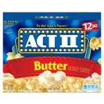 ACT II Butter Microwave Popcorn, Classic Bag, 12 Ct