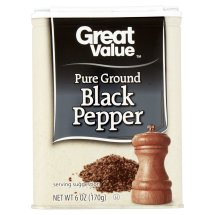 Great Value Pure Ground Black Pepper, 6 oz