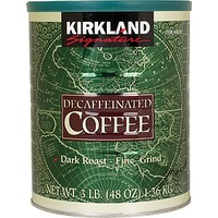 Kirkland Signature Dark Roast Fine Grind Decaffeinated Coffee
