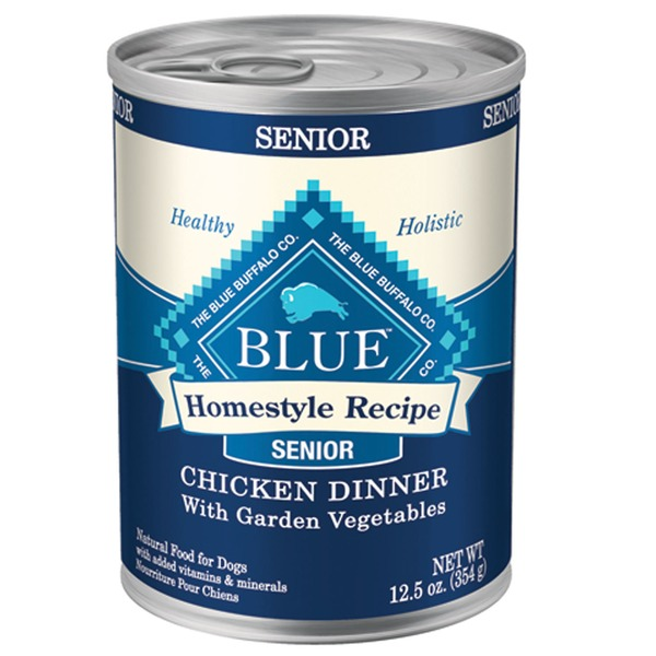 Blue Buffalo Dog Food, Moist, Homestyle Recipe, Chicken Dinner, Senior, Can