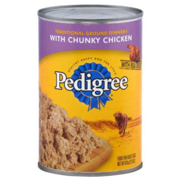 Pedigree Meaty Ground Dinner W/Chunky Chicken Wet Dog Food