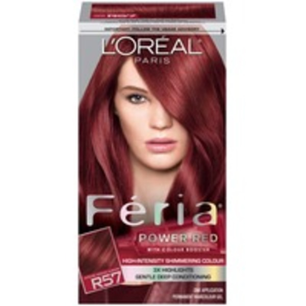 Feria High-Intensity Shimmering Colour Power Red R57 Intense Medium Auburn Hair Color