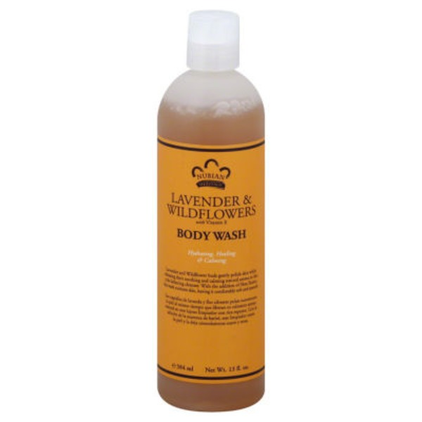 Nubian Heritage Body Wash, Lavender & Wildflowers, with Vitamin E