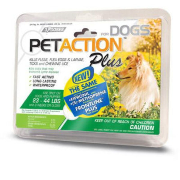 Pet Action Flea, Tick & Lice Treatment, for Dogs, 23-44 Lbs