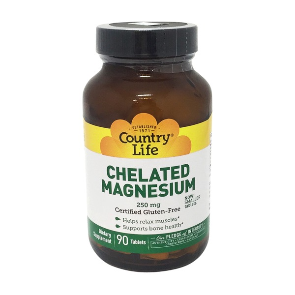 Country Life Chelated Magnesium 250 mg Tablets