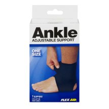 Flex Aid Adjustable Ankle Support One SIze - 1 CT