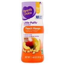 Parent's Choice Little Puffs, Stage 3, Peach Mango Cereal Snack, 1.48oz