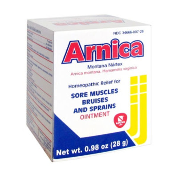 Arnica Homeopathic Relief For Sore Muscles, Bruises, And Sprains Ointment