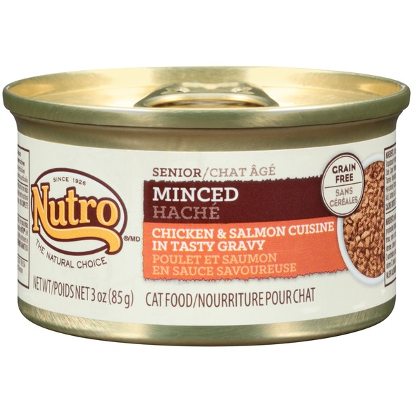 Nutro Senior Minced Chicken & Salmon Cuisine in Tasty Gravy Cat Food