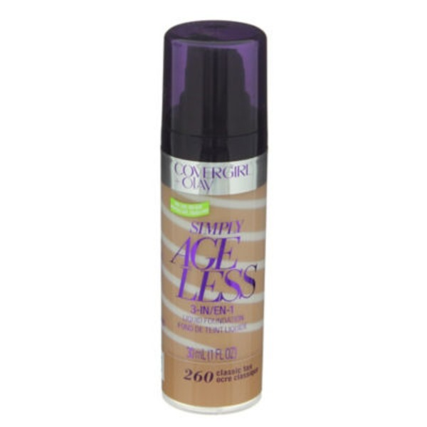 CoverGirl Simply Ageless COVERGIRL+Olay Simply Ageless 3-in-1 Foundation, Classic Tan 1 fl oz (30 ml) Female Cosmetics
