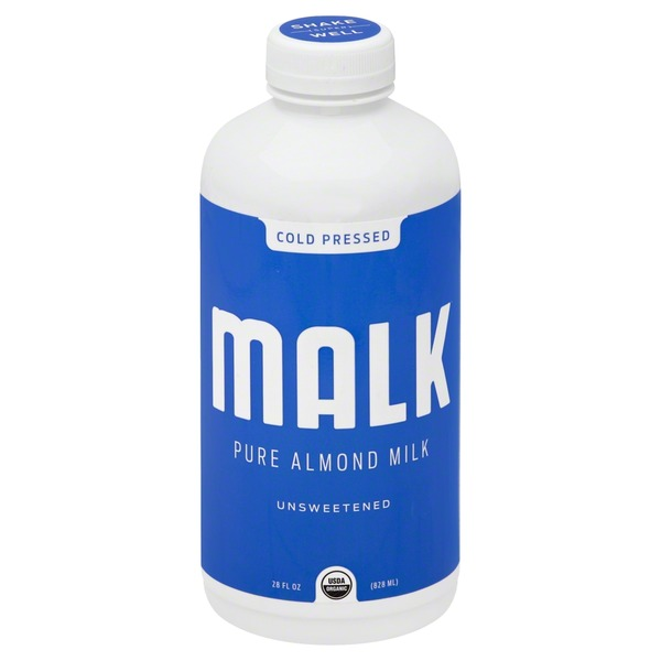 Malk Milk, Pure Almond, Unsweetened