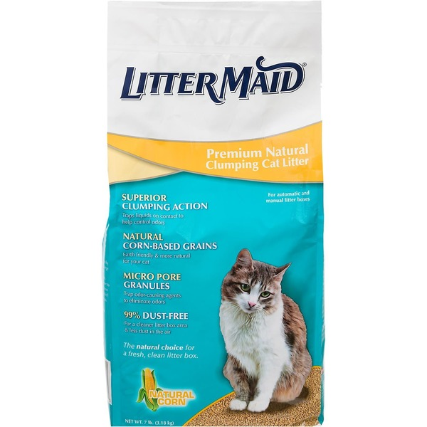Litter Maid Premium Natural Corn Clumping Cat Litter