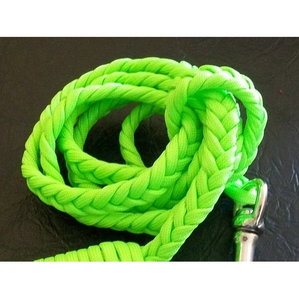 Cesar Milan Pink/Lime Braided Leash