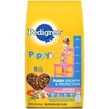 PEDIGREE Puppy Growth and Protection Chicken and Vegetable Flavor Dry Dog Food 3.5 Pounds