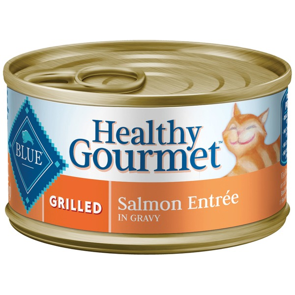 Blue Buffalo Food for Cats, Natural, Grilled, Salmon Entree in Gravy