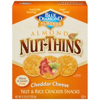 Blue Diamond Almond Nut-Thins Cheddar Cheese Nut & Rice Cracker Snacks